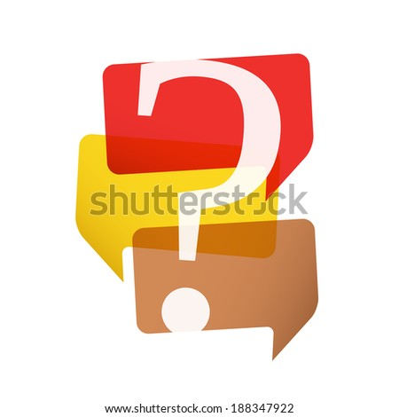 Speech bubbles with question mark, vector eps10 illustration