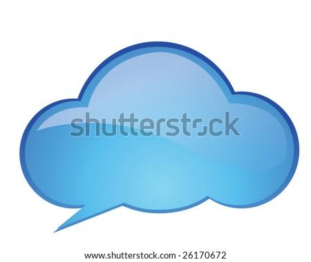 Speech cloud - stock vector