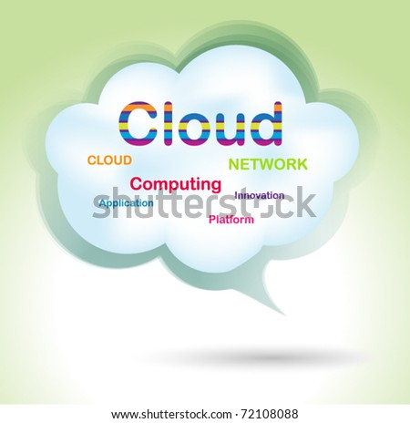 Speech cloud bubble - concept design - stock vector
