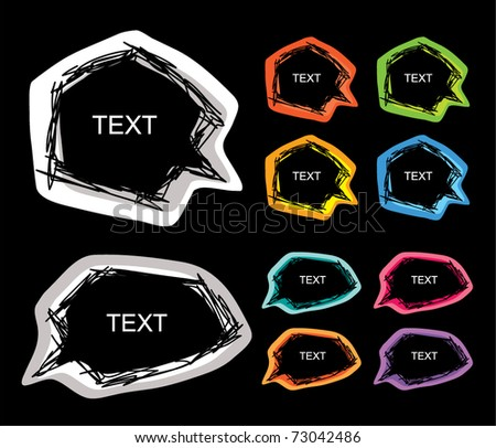 speech colorful - stock vector