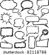 Speech doodles - stock vector
