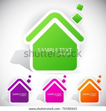 Speech paper home - stock vector