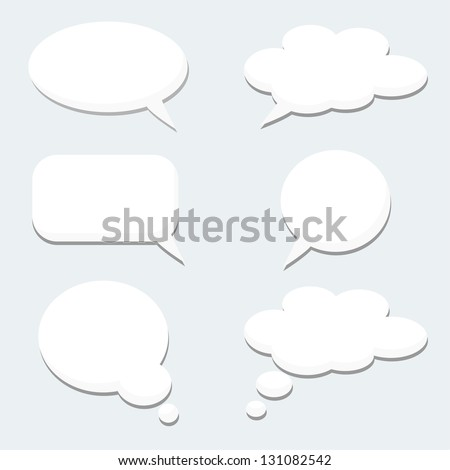 Speech thought bubble set - stock vector