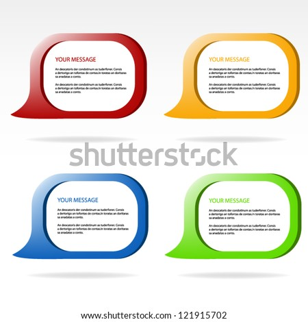 speech vector background eps10 for your message web design and brochure business design - stock vector
