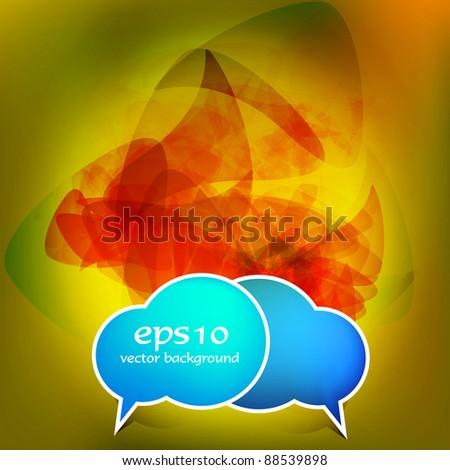 Speech vector elements - stock vector