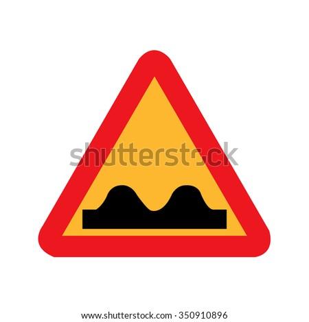 Speed Bump Sign - stock vector