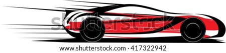 Speed car . Vector illustration - stock vector