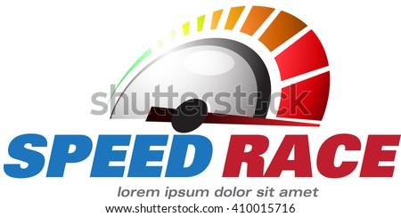 Speed Race logo event - stock vector