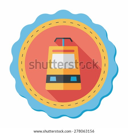 speed train flat icon with long shadow - stock vector