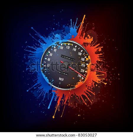 Speedometer - stock vector