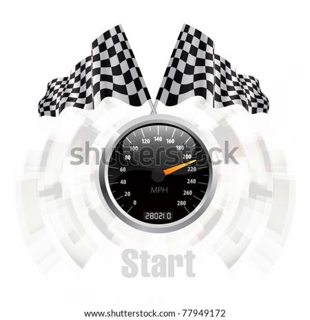 Speedometer background - stock vector