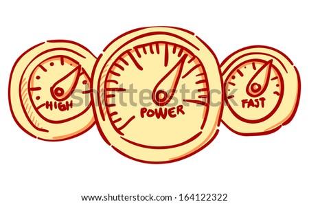 Speedometer Dashboard - stock vector