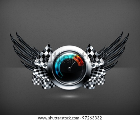 Speedometer emblem, 10eps - stock vector