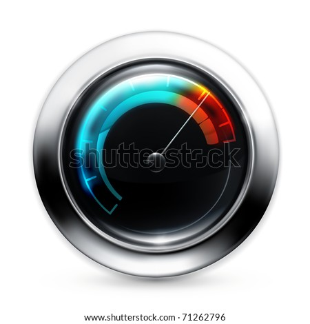 Speedometer, 10eps - stock vector