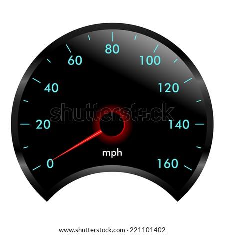 Speedometer gauge. Vector illustration. - stock vector