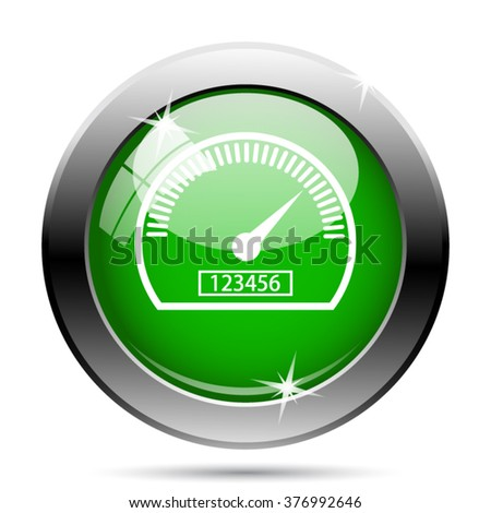 Speedometer icon. Internet button on white background. EPS10 vector.