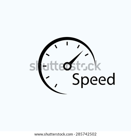 speedometer icon. symbol of speed. template logo design  - stock vector