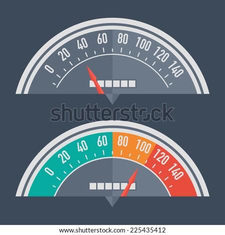Speedometer retro classic - stock vector