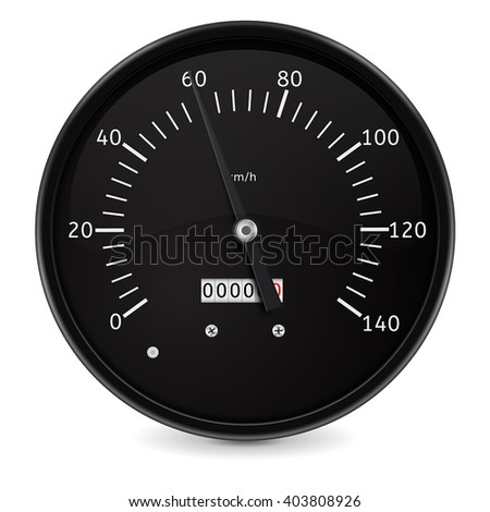 Speedometer. Speed gauge. Vector illustration isolated on white background