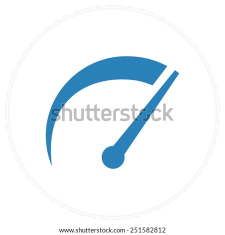 speedometer tachometer icon - stock vector