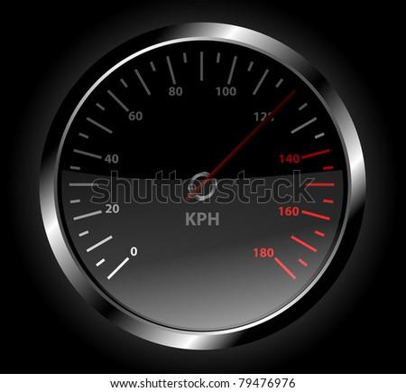 Speedometer vector - stock vector
