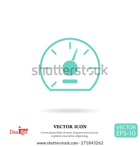 speedometer vector icon - stock vector