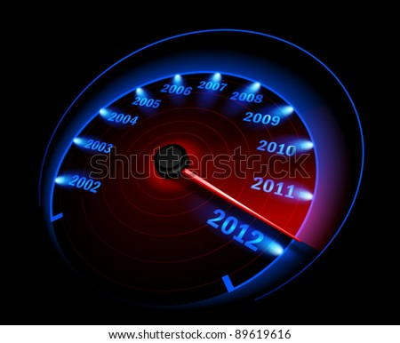 Speedometer. Vector illustration - stock vector