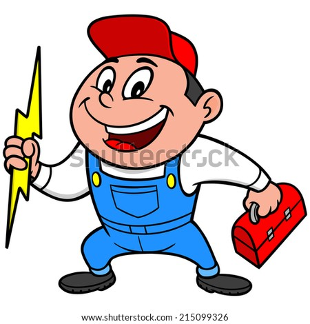 Speedy Electrician - stock vector