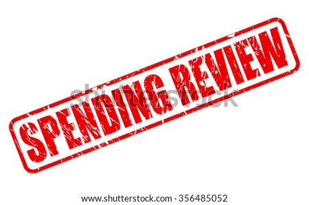 SPENDING REVIEW red stamp text on white - stock vector