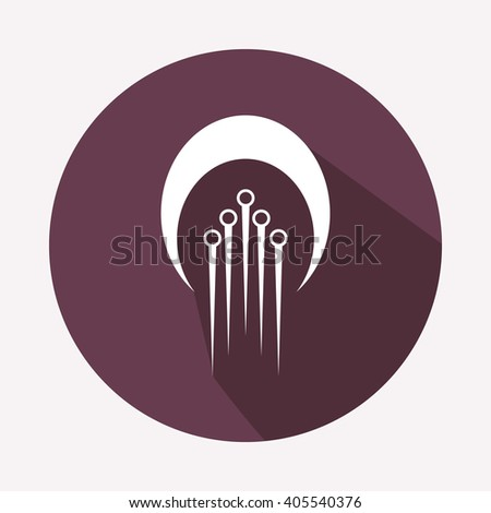 Sperm icons.Fertilization and insemination signs. Logo.  - stock vector