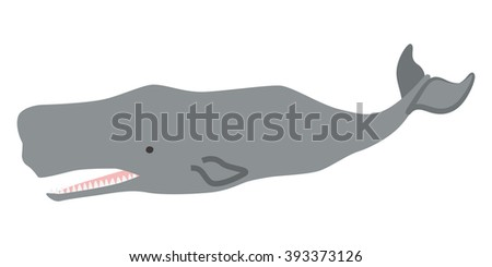 Sperm Whale - stock vector