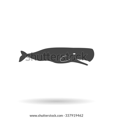 Sperm Whale. Icon Vector - stock vector