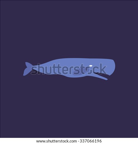 Sperm Whale. Icon Vector. Icon Picture. Icon Graphic. Icon Art. Icon JPG. Icon JPEG. Icon EPS. Icon AI. Icon FLAT. Icon SIMPLE - stock vector