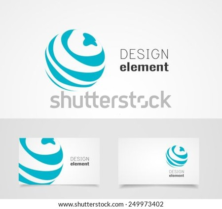 Sphere Circle abstract lines vector logo design template - stock vector