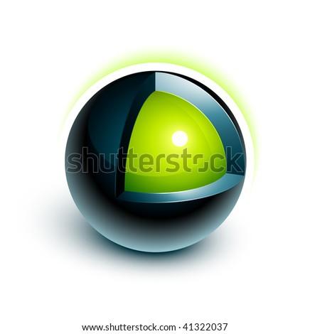 Sphere 3d design - stock vector