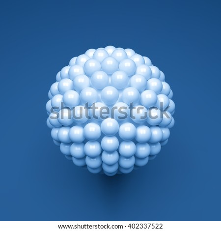 Sphere. 3d Vector Template. Abstract Illustration. 3d Spheres Composition. Vector illustration for Science, Technology, Web Design and Network