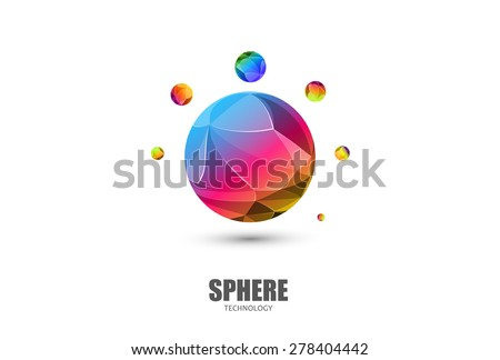 Sphere Logo Abstract Business Technology icon, easy editable - stock vector