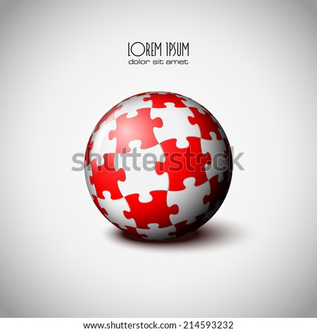 Sphere of puzzle icon eps 10 - stock vector
