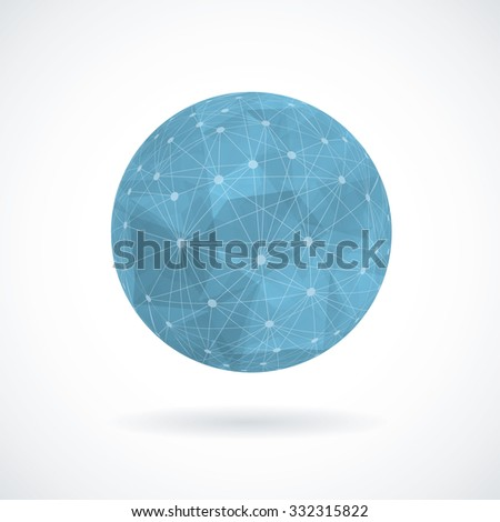 Sphere vector illustration. - stock vector