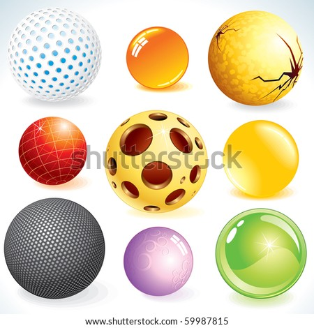 Spheres - various abstract orbs -set of vector design elements-MORE SIMILAR SEE AT MY GALLERY