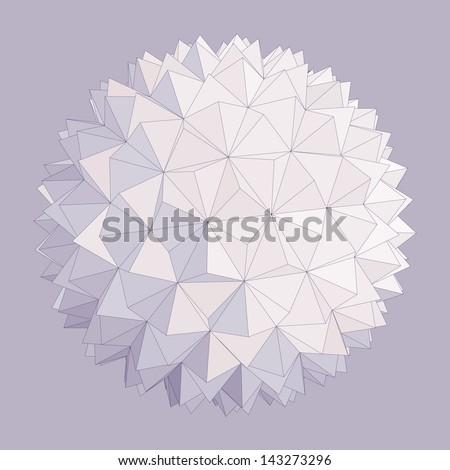 Spherical shape. Vector illustration. - stock vector