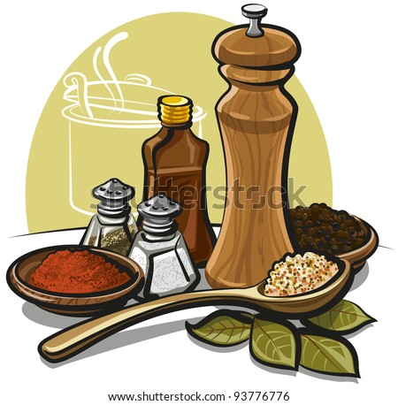 spices - stock vector