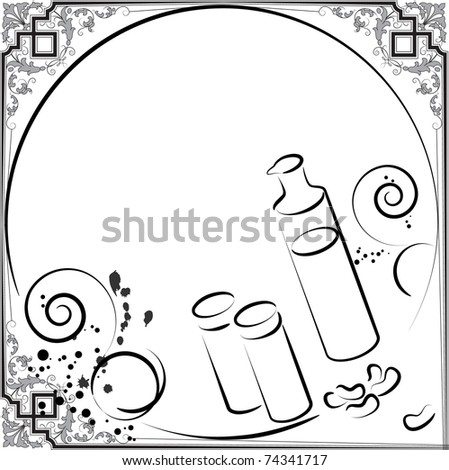spices menu - stock vector