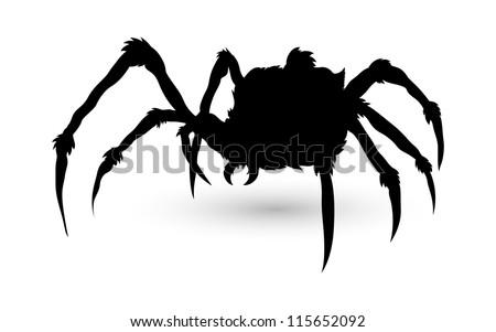 Spider Silhouette - stock vector