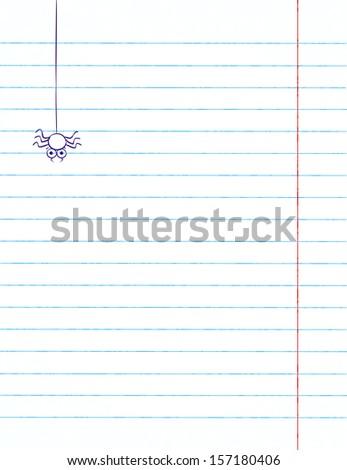 Spider (vector, background) - stock vector