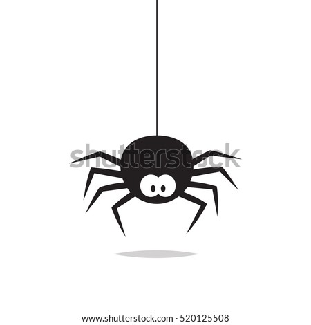 Spider Vector Isolated Stock Vector 520125508 Shutterstock