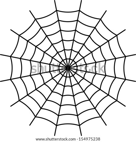 spider web black vector stock vector 154975238 shutterstock rh shutterstock com spider web vector art spider web vector art