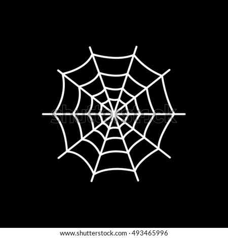 spider web halloween concept line icon on black background - Spider Web Halloween