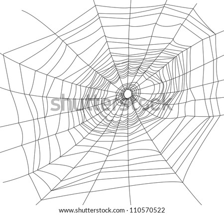 spider web or cobweb illustrations. - stock vector