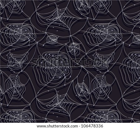 Spider web seamless background - stock vector